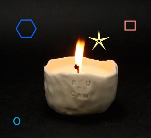 Campfire soy candle by Cybèle B.Pilon