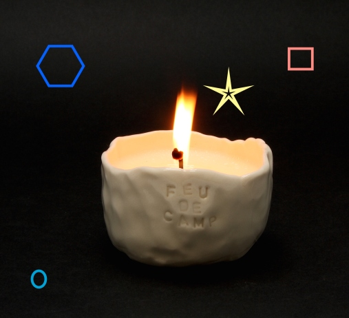 Campfire soy candle by Cybèle B.Pilon