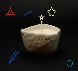 Grass soy candle by Cybèle B.Pilon