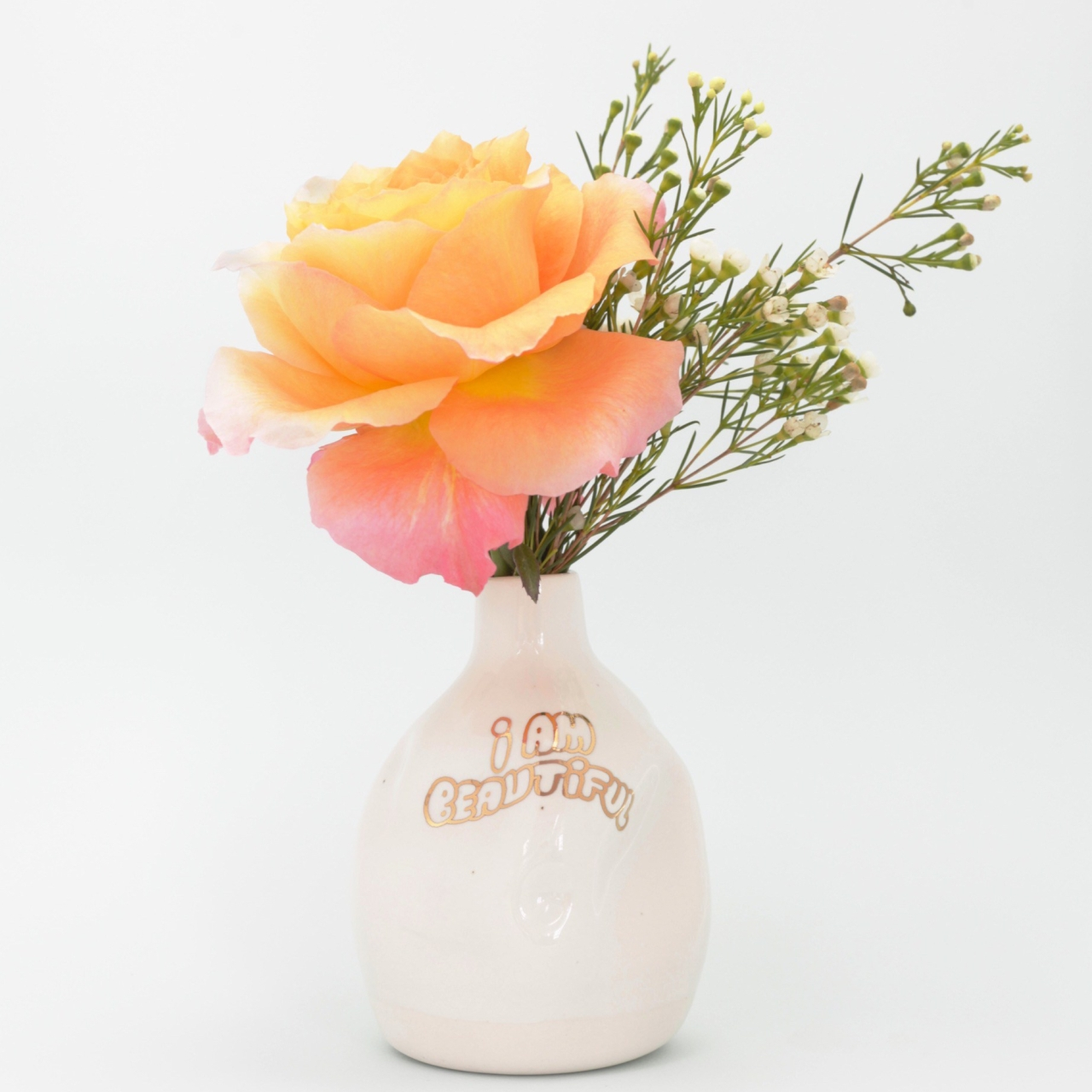 Porcelain vase I am beautiful by Cybele B.Pilon
